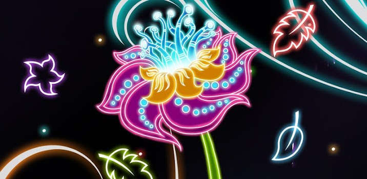 neon flowers live wallpaper by live wallpapers 3d