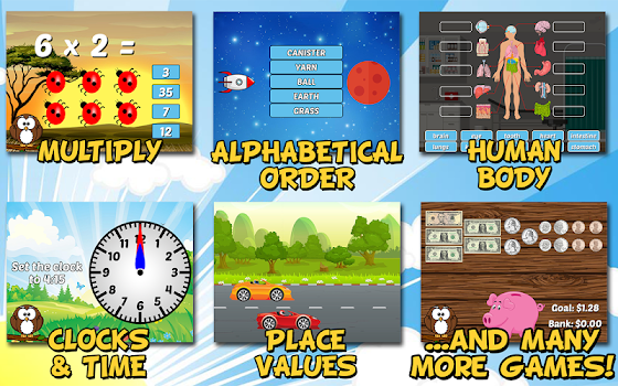 Second Grade Learning Games Free
