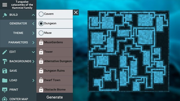 ProDnD Tabletop Game Manager and Dungeon Generator - by Gray Lake ...