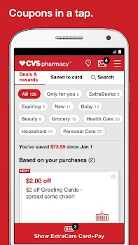 Best 10 prescription drug discount apps appgrooves the official cvspharmacy app for prescriptions extracare coupons and photo fandeluxe Image collections