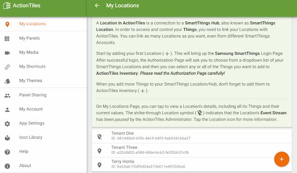 ActionTiles SmartThings custom web dashboard maker