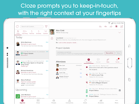 Cloze Relationship Management