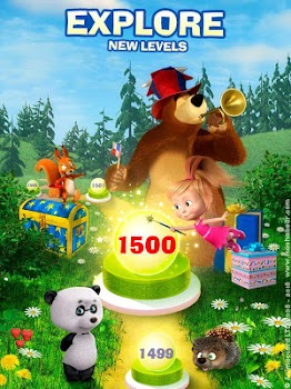 Masha and The Bear Jam Day Match 3 games for kids