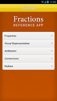 Fractions Reference App