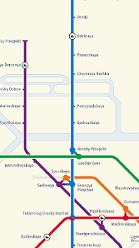 Saint Petersburg Subway Map By Wonderever Maps Navigation