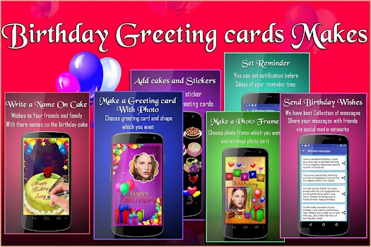 Birthday Greeting Cards Maker: photo frames, cakes - by AppTrends ...
