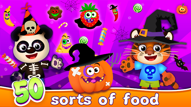 Funny Food! Educational Games for Toddlers 3 years