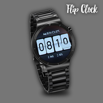 flip clock watch face for wear os by studio extreme