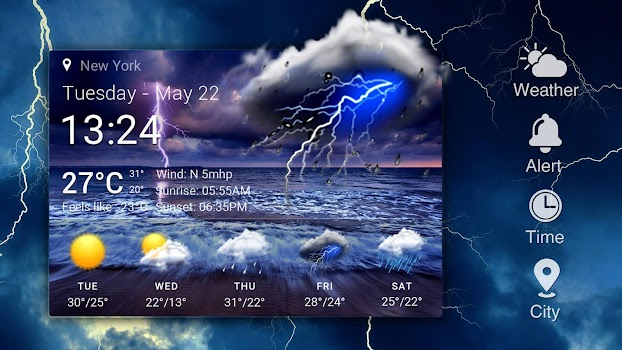 Hourly weather forecast Pro   - by Weather Widget Theme Dev