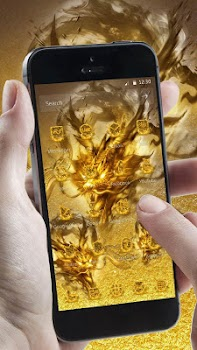 Entrancing Accessories For Wall Decoration With Asian Dragon Wallpaper :  Delectable Picture Of Gold And Black