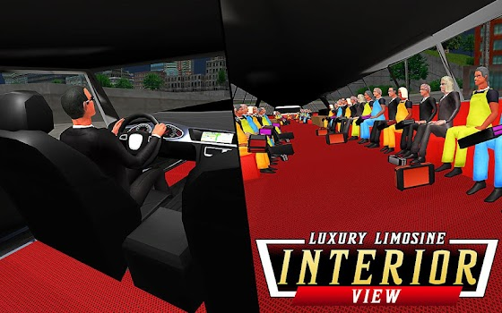 Luxury Limo Taxi Driver City : Limousine Driving