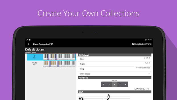 Piano Chords Scales Progression Companion Pro By Songtive