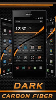 black carbon fiber theme by launcher phone theme tools category