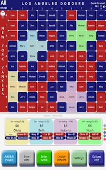 Baseball GamePool for match, series & game parties