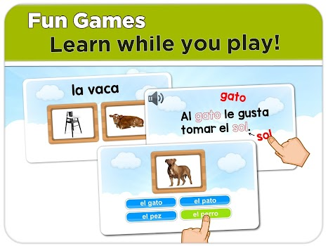 Learn Spanish words: free online course for kids