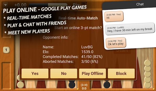 Backgammon NJ for Android