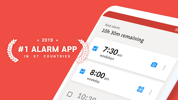 Alarmy - Mission Alarm Clock with Loud Ringtones