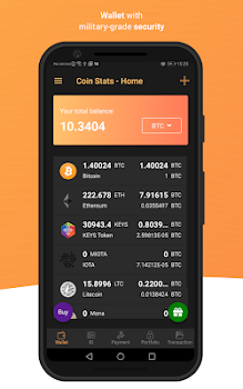 Coin Stats Bitcoin & Cryptocurrency Wallet