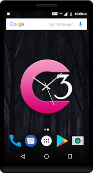 Magenta Clock Live Wallpaper