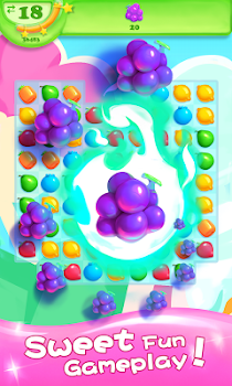 Fruit Candy Smash - Juice Splash Free Match 3 Game