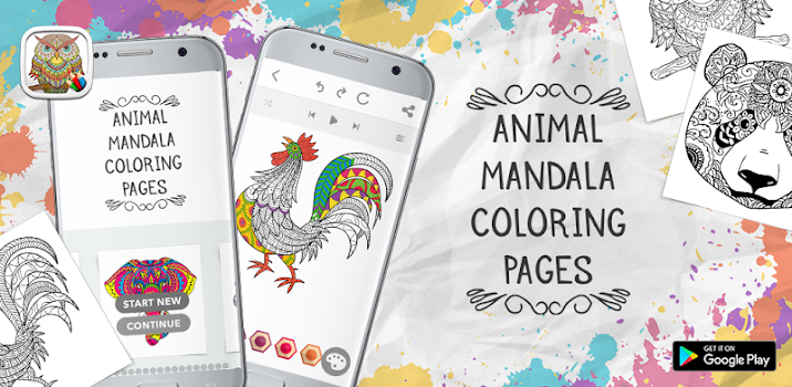 Animal Mandala Coloring Pages by Coloring Corner Entertainment