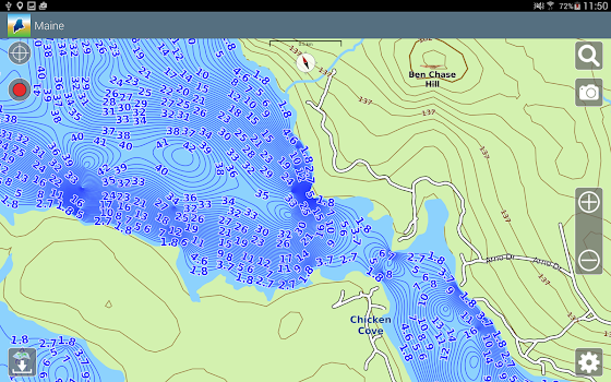 Aqua Map Maine Lakes GPS By GEC Srl Travel Local Category - Maine lakes map