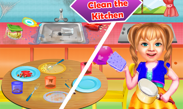Sweet Baby Girl Cleaning Games 2018: House Cleanup