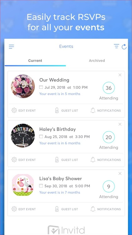 Invitd Party Invitations By Text And RSVP Planner