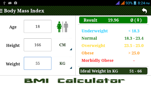 Bmi Calculator By Golemtechapps Health Fitness Category 16