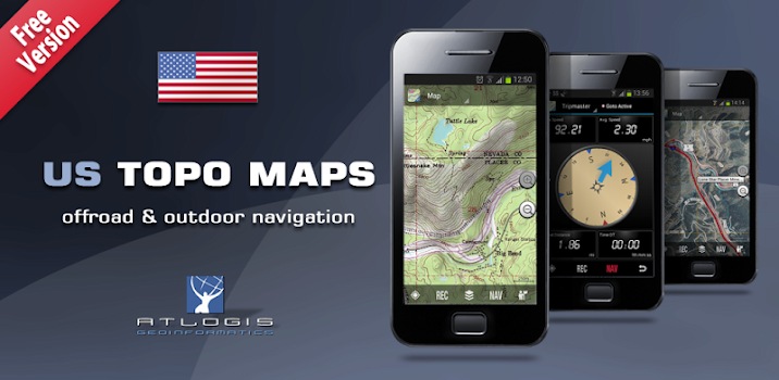 US Topo Maps Free By ATLOGIS Geoinformatics GmbH Co KG - Us topo maps pro review