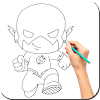 Draw Superhero Steps by Steps