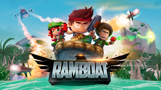 Ramboat - Offline Jumping Shooter and Running Game