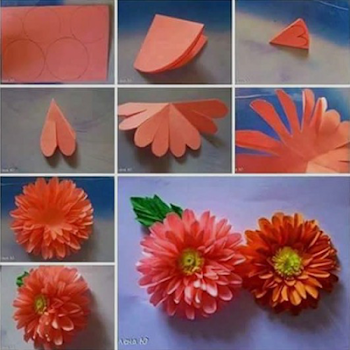 Tutorial making paper flower by ags ideas books reference tutorial making paper flower mightylinksfo