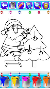Christmas Coloring Book Pages Santa Game