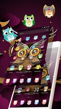Two-dimensional Abstract Owl Theme