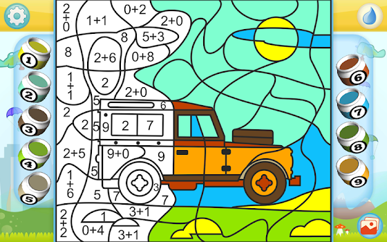 Color by Numbers - Cars + - by Kedronic UAB - Educational Games ...