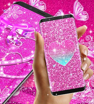 Pink glitter live wallpaper by new hd live wallpapers pink glitter live wallpaper altavistaventures Image collections