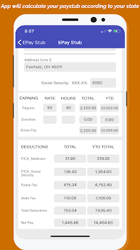 Paycheck Paystub Calculator Pro By Paystubscheck Finance