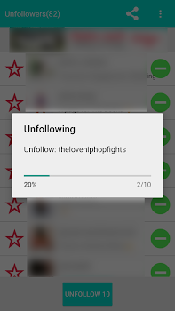 Unfollow Users for instagram