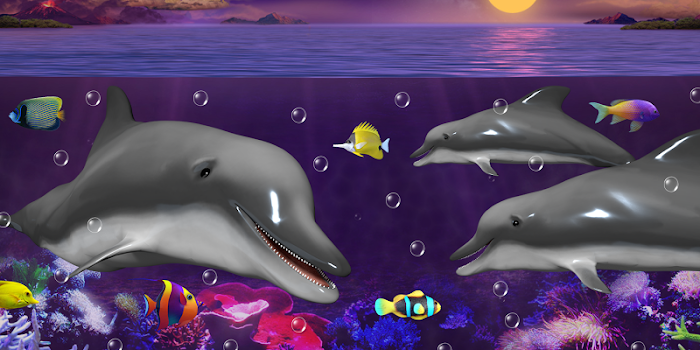 Dolphins and orcas wallpaper by cosmic mobile wallpapers dolphins and orcas wallpaper thecheapjerseys Images