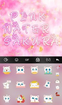 Pink Water Sakura Keyboard Theme