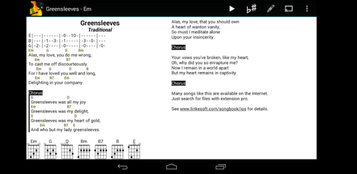 SongBook - by LinkeSOFT GmbH - Music & Audio Category - 21 Features ...