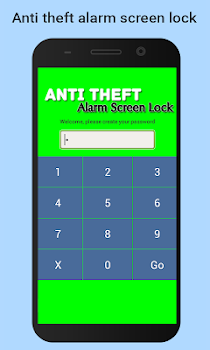 Anti theft alarm screen lock