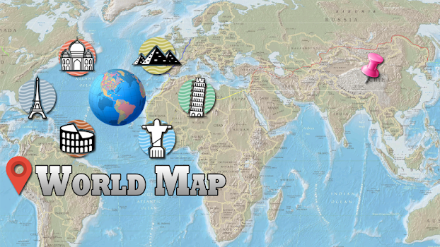 Offline world map hd 3d atlas street view by xiontech travel offline world map hd 3d atlas street view gumiabroncs Gallery