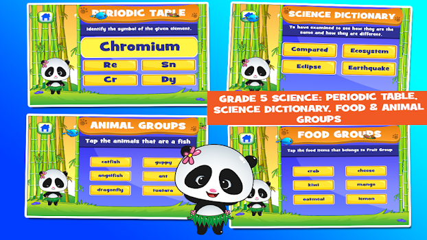 panda 5th grade learning games - Periodic Table Of Elements For 5th Grade