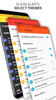 Flash Alerts on Call & Alerts on App Notifications