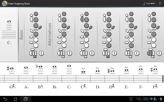 Flute Fingering Chart  By Critical Apps  Music  Audio Category