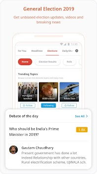 Dailyhunt (Newshunt)-Election,Cricket- News, Video