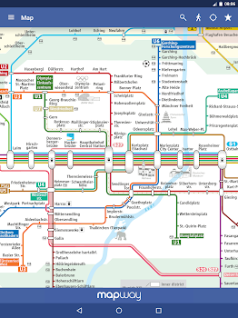 Munich Metro MVG map and route planner by Mapway Maps