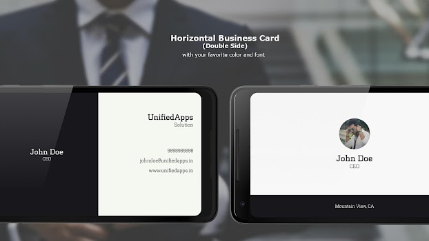 Business card maker by unified apps 3 app in business card business card maker wajeb Images